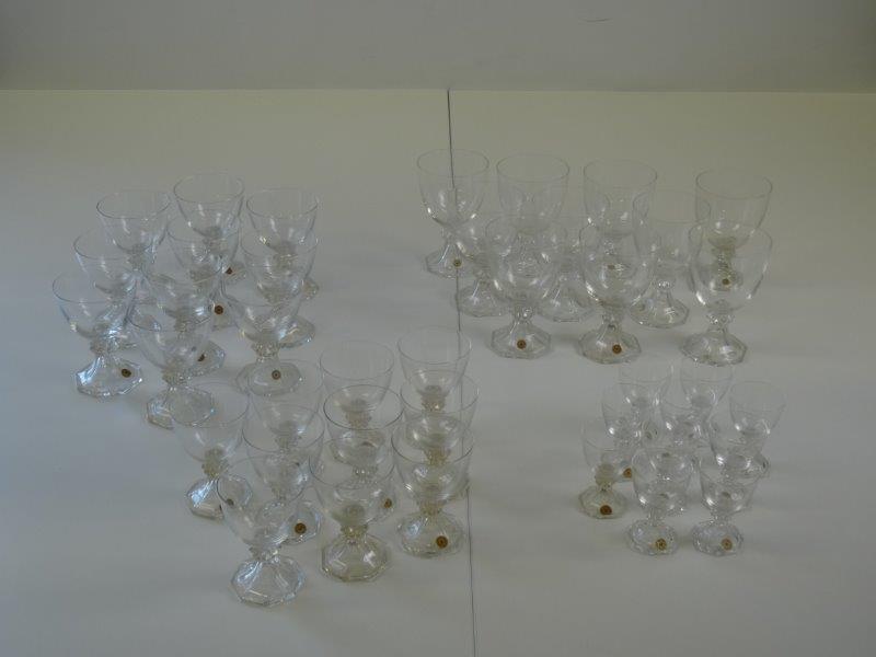 40 glazen Val Saint Lambert