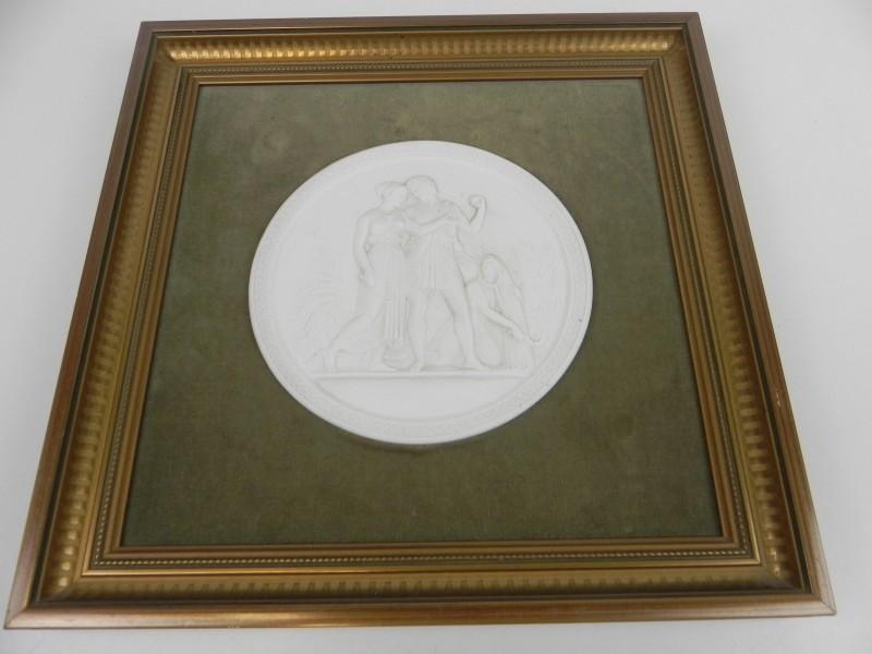 Porselein tablet  ingekaderd- Royal Copenhagen Denmark