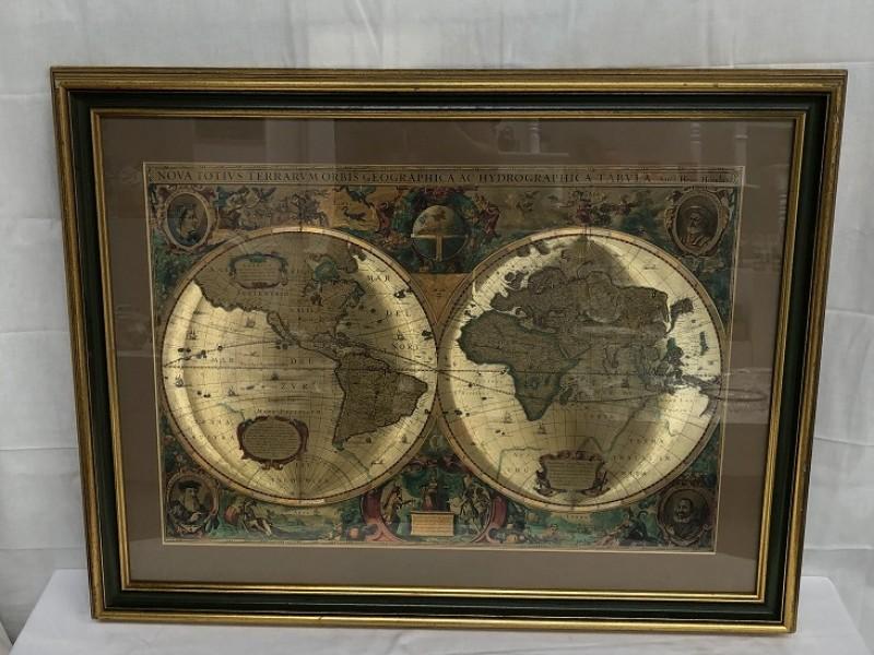 Heliogravure - wereldkaart
