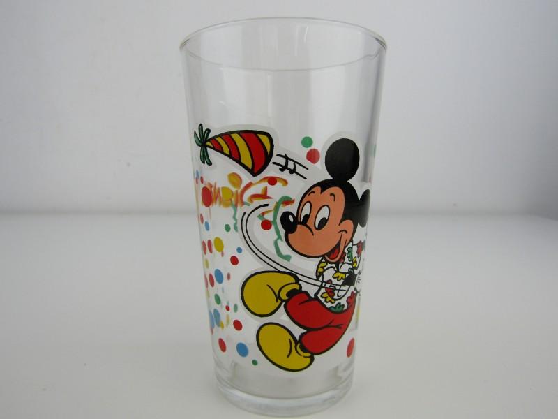 Vintage Glas: Mickey Mouse, Walt Disney, VMC Glass, France