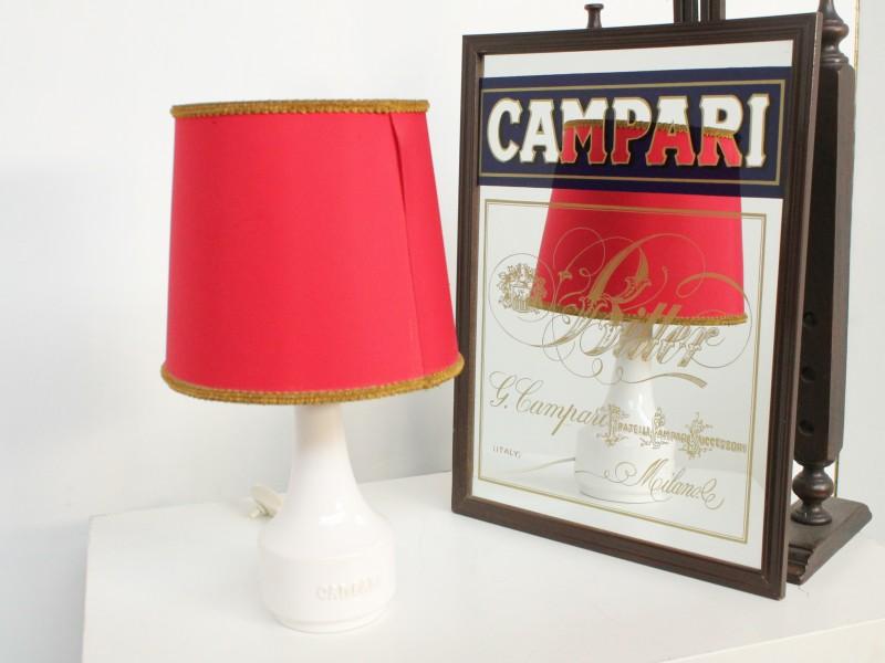 Campari Collectables: Vintage Lamp + Spiegel