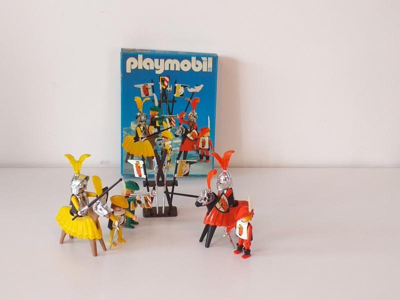 3 sets playmobile (ridders, middeleeuwse figuren)
