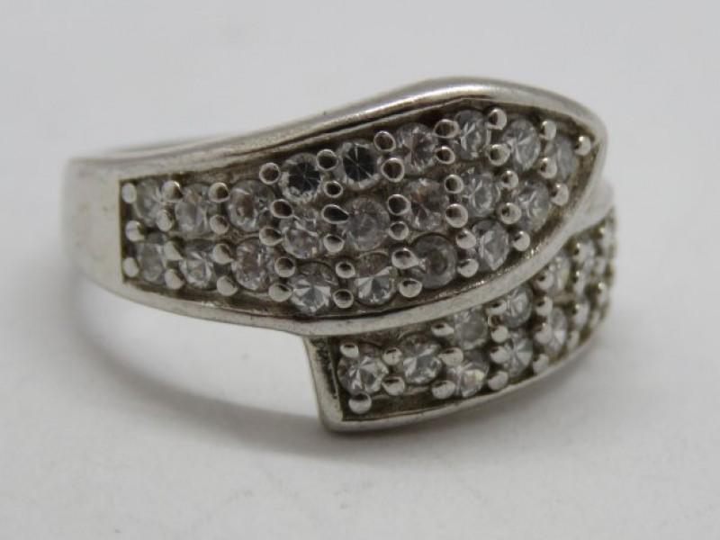 Zilveren ring 925 met markasieten
