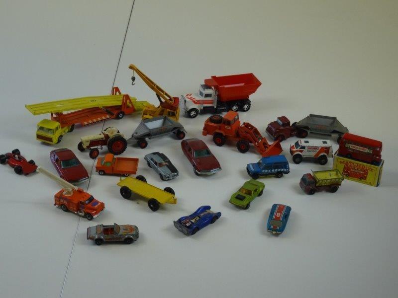 21 verschillende matchbox autotjes