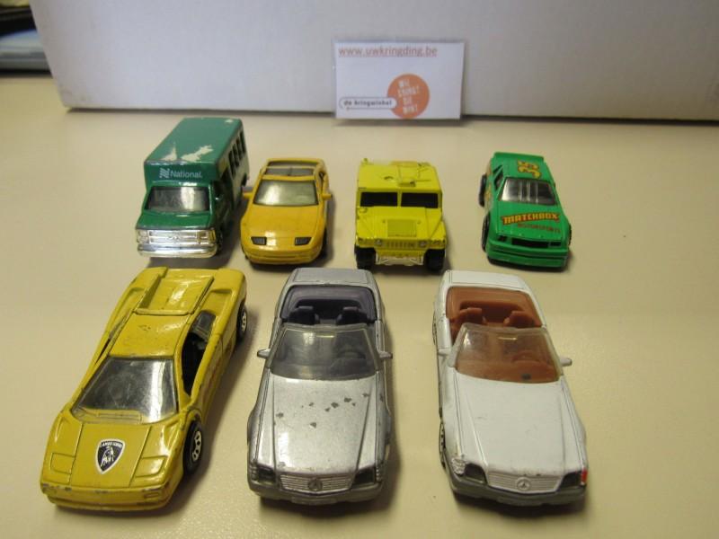 Lot van zeven auto's - Matchbox - jaren negentig