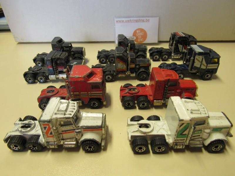 Lot van tien stuks - Matchbox - vrachtwagens