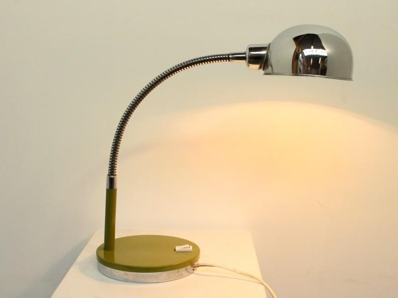 Vintage Lamp - Chromé/Groen