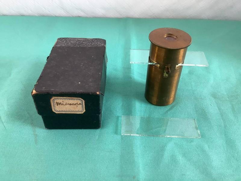 Antieke zak microscoop