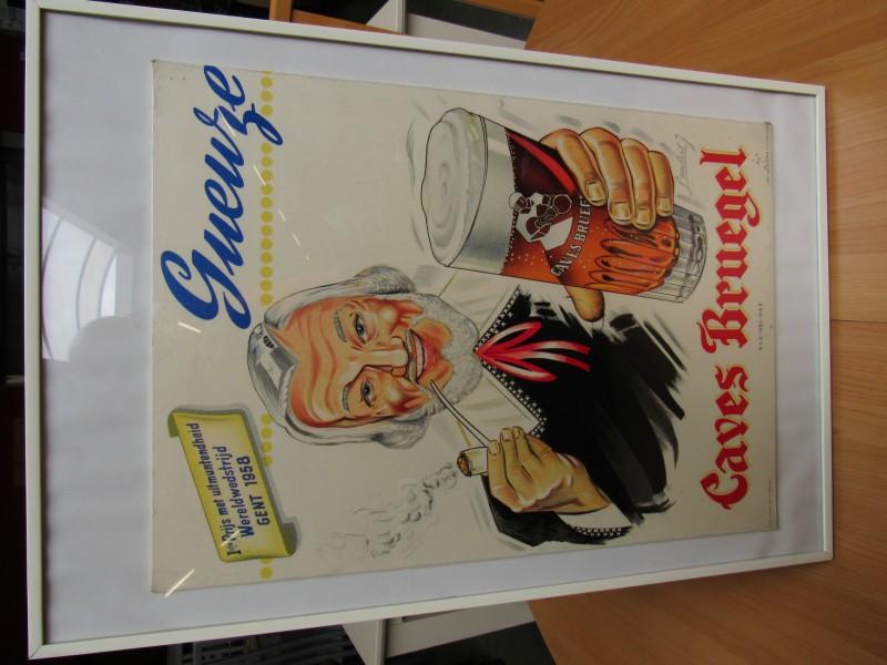 """Lanibert poster - Geuze - """" Caves Breugel bier"""""""