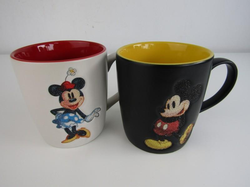 2 x Disneyland Paris Mokken, Mickey en Minnie Mouse
