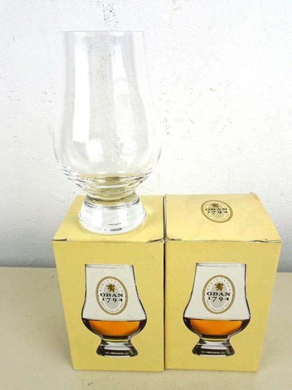 2 OBAN Whisky glazen