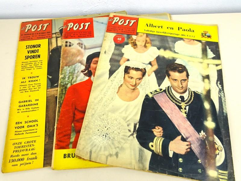 """3 Vintage tijdschriften """"De POST"""""""