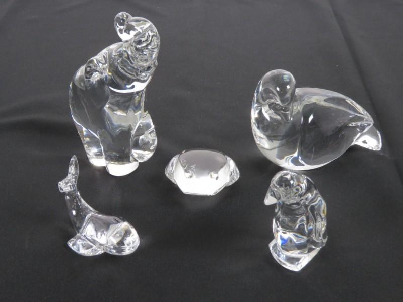 Set kristallen dieren Val St Lambert