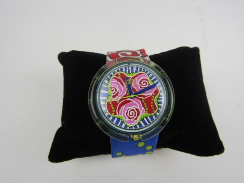 Horloge, Pop Swatch, Rozenmotief