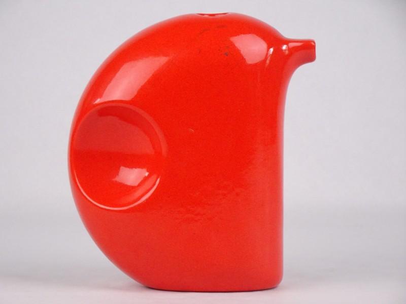 Vintage oranje kleurig porseleinen decoratief stuk. Made in Italy.