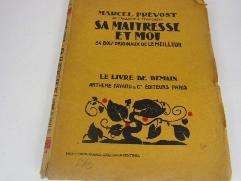 Boek, Marcel Prévost, 'Sa Maîtresse et moi' met 34 afdrukken