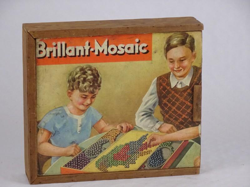 Vintage educatief spel Brillant-Mosaic jaren '50.