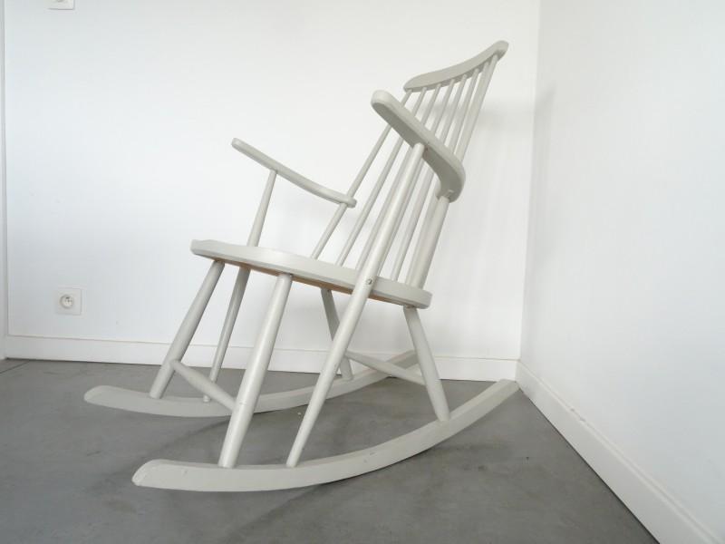 Vintage Spijlen schommelstoel