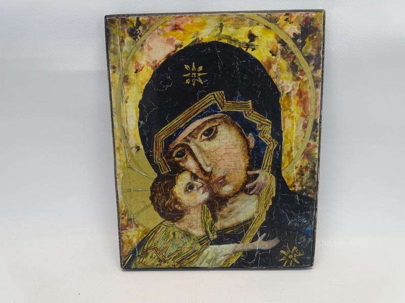 """Icoon """" De Moeder Gods Van Vladimir"""", 1983"""