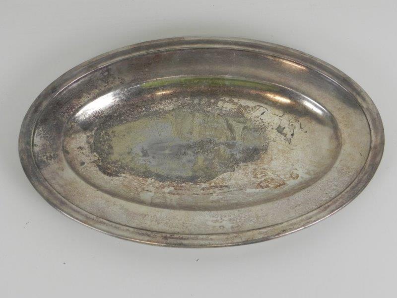 Ovale schaal in zilver metaal (1) - Verzilverd - Christofle
