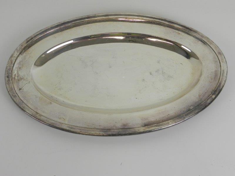 Ovale schaal in zilver metaal (3) - Verzilverd - Christofle