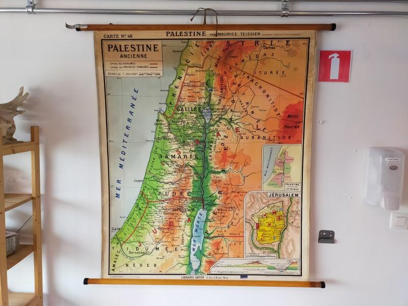 Oude landkaart van Palestina