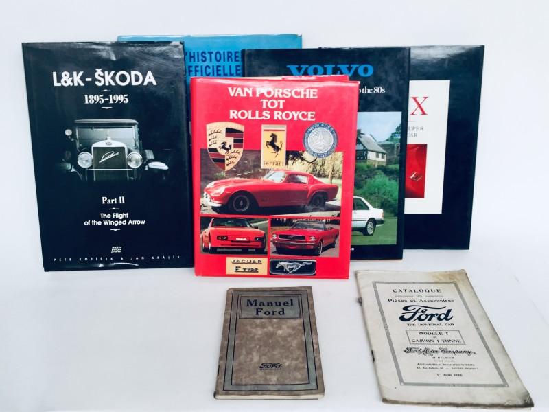 Collectie auto - boeken + 2 Oude Handleidingen