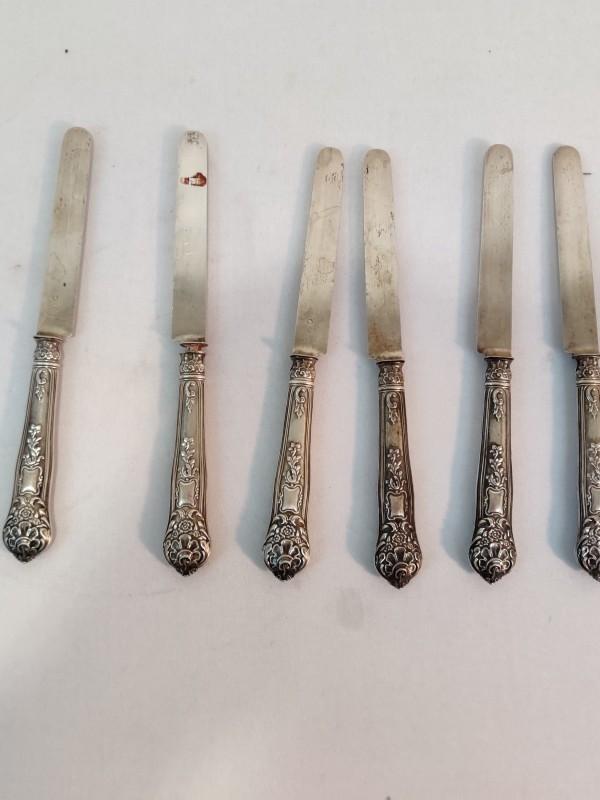 6 zilveren messen