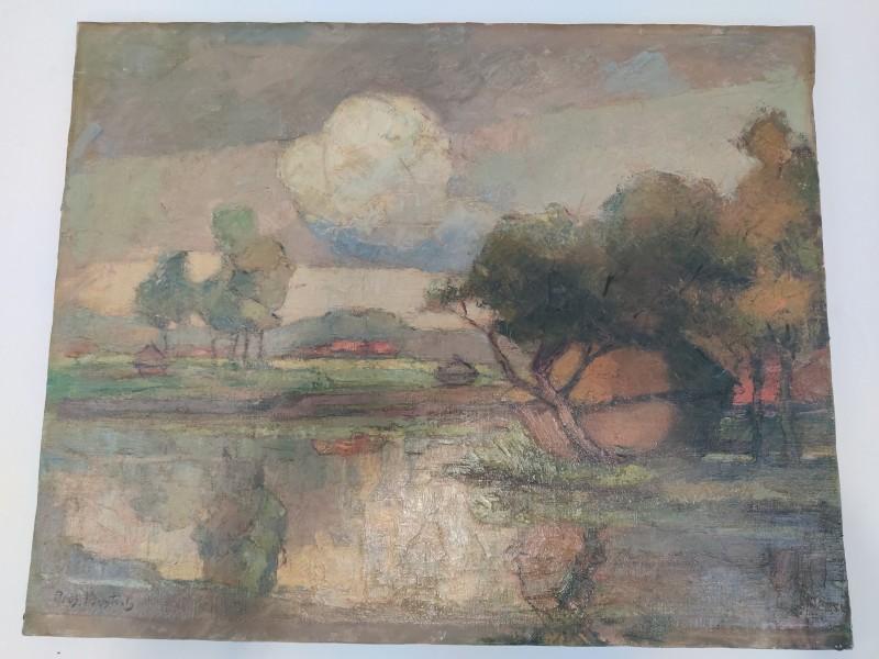"""Schilderij landschap """"Pros. Bosteels"""""""