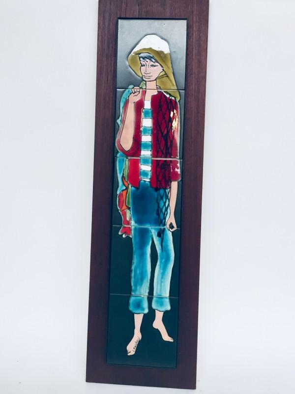 Wanddecoratie Visser Getekend J. Belarti