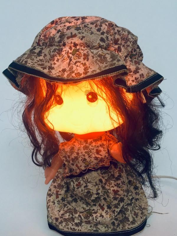 Linea Zero Bobblehead Rag Doll Table Lamp 1970's