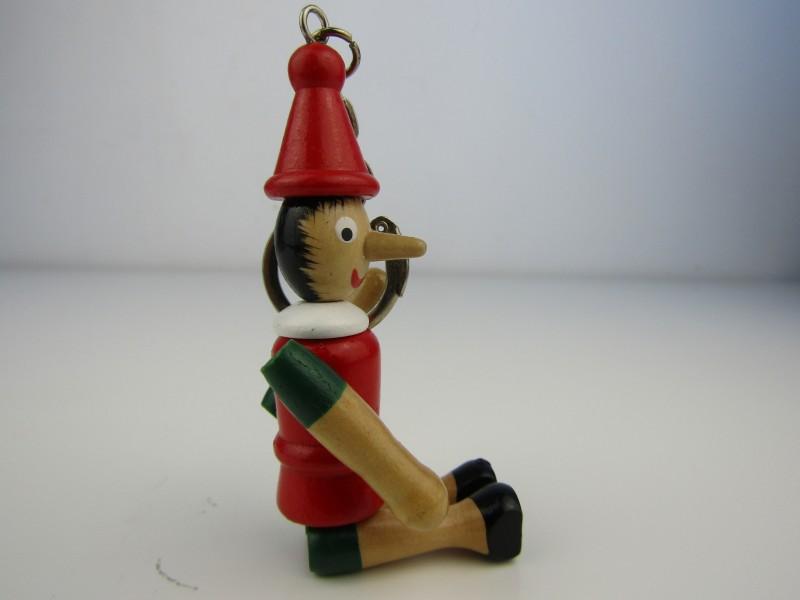 Houten Pinokkio Sleutelhanger
