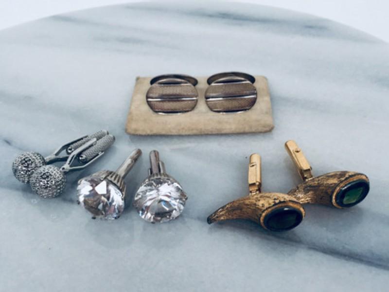 4 Paar Vintage Manchetknopen