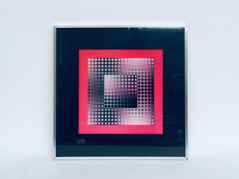 Optical Art Vasarely Framed Print