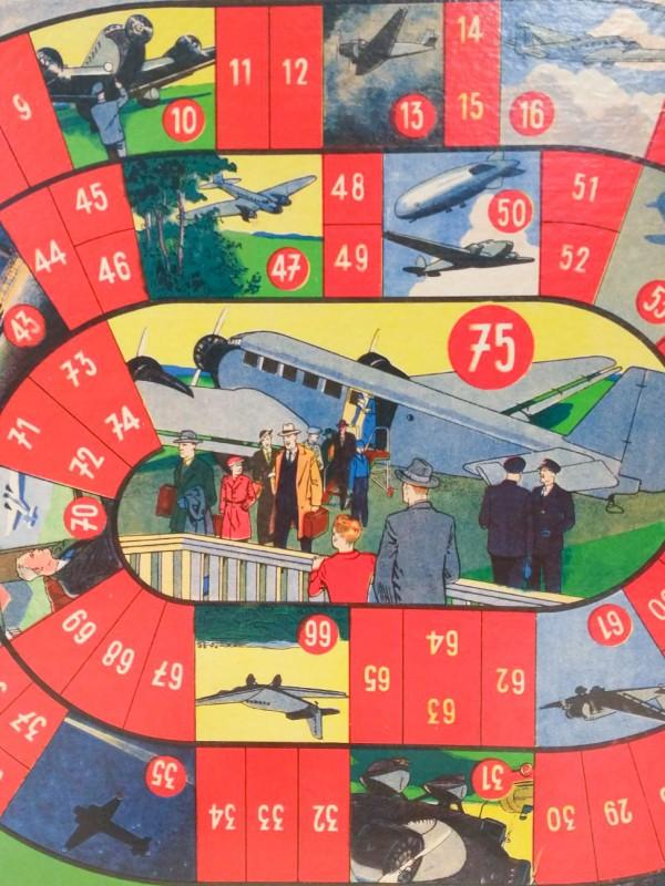 """Vintage """"Voyage aérien """" spel / boardgame"""